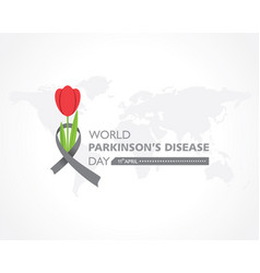 World parkinsons disease day observed on 11th vector