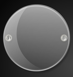 Circle advertising glass board vector image vector image