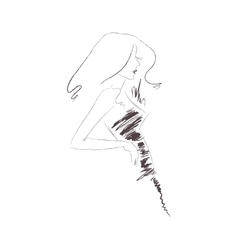 drawing of a woman vector image