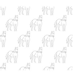horse outline on white cartoon background vector image