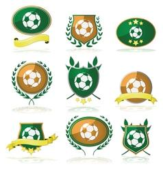 Soccer badges vector image
