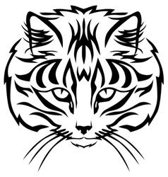 cat muzzle black vector image vector image