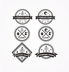 coffee bundle logo vector image vector image