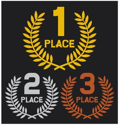 first place second place and third place vector image