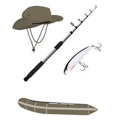Fishing set vector image