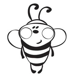 Funny bee vector image vector image