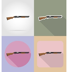 weapon flat icons 07 vector image vector image