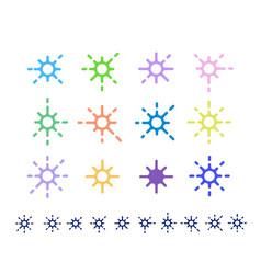 Decoration stars vector