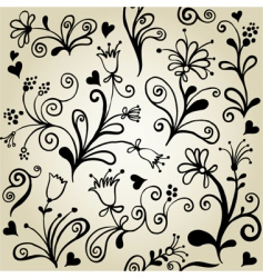 floralwallpaper pattern vector image vector image