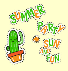 summer party sun and fun poster vector image