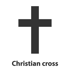 Symbol of a church cross Christianity religion vector image