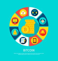 bitcoin money concept vector image vector image