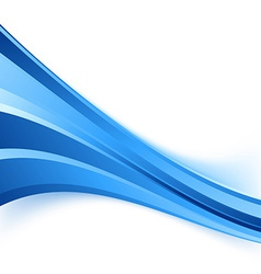 Blue speed stream business wave background vector image vector image