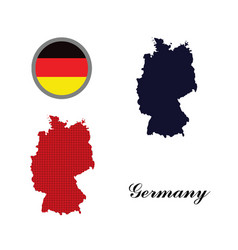germany map with the german flag vector image