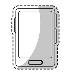 Isolated smartphone device design vector image vector image