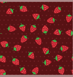 red and ripe strawberries seamless pattern vector image