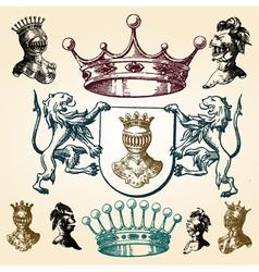vintage heraldry elements vector image