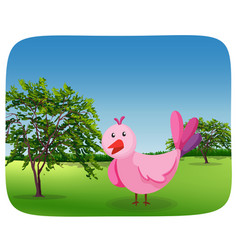 a simple bird in the park vector image