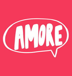 Amore valentines day sticker for social media vector