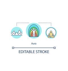 aura concept icon vector image