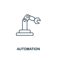 automation icon thin line style industry 40 vector image
