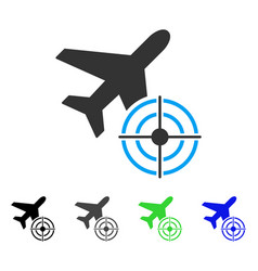 Aviation target flat icon vector