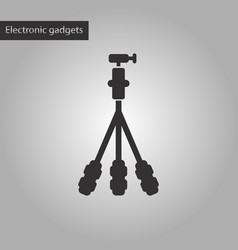 Black and white style icon tripod vector