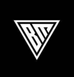 Bm logo monogram with triangle shape designs vector