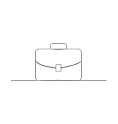 briefcase one line drawing vector image