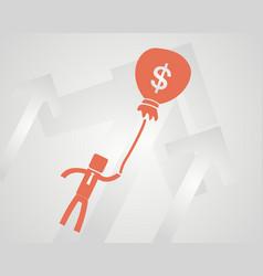 Business success concept businessman flies on a vector