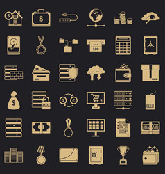 business target icons set simple style vector image