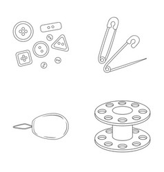 Buttons pins coil and threadsewing or tailoring vector