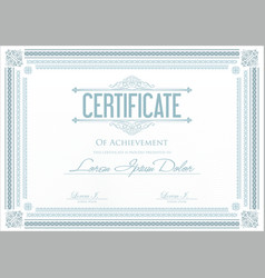 Certificate or diploma template 2 vector