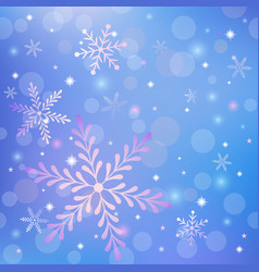 christmas background with snowflakes and shiny vector image