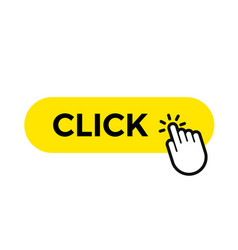 click bar and finger web button icon template vector image