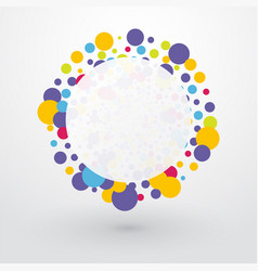 colorful bubbles with place for text vector image