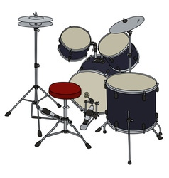 Dark percussion set vector