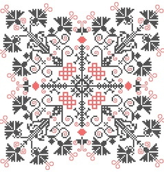 Embroidery ornament vector