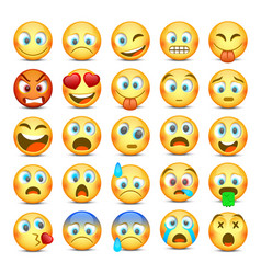 Emoji and sad icon set vector
