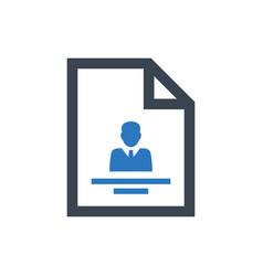 Employee profile icon vector