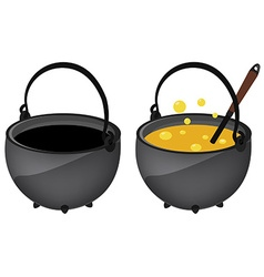 Empty and full magic kettle vector image