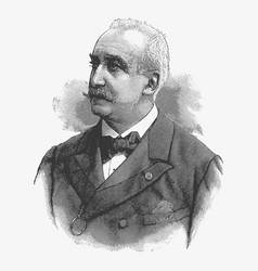 Engraving portrait of felix faure a former vector