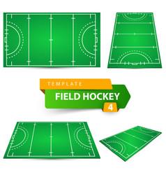 Field hockey - four items template vector