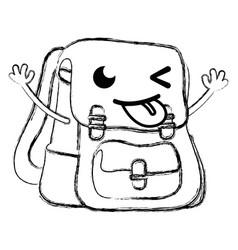 figure funny bag object kawaii with arms vector image