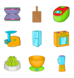 Filling icons set cartoon style vector