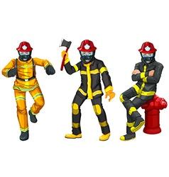 Fire fighters in uniform vector