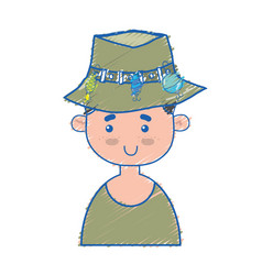 fisherman with hat design and funny sport vector image