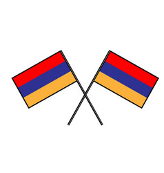 Flag of armenia stylization of national banner vector