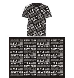 Fullprint new york brooklyn vector