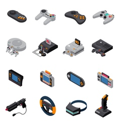 Game Gadgets Isometric Icons Collection vector